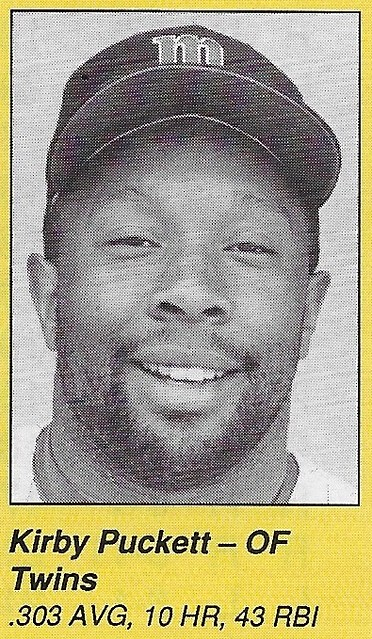 1990 All-Star Program Inserts - Puckett, Kirby