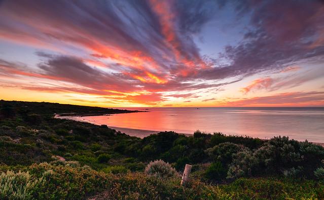 Sunset - Smiths Beach on Indian Ocean, WA