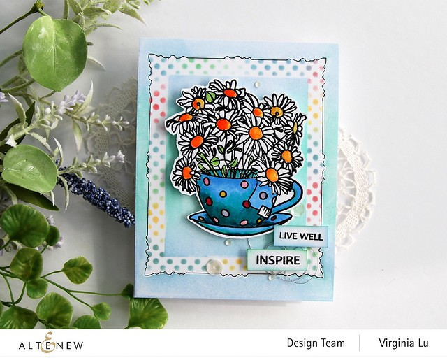 Altenew-PAF Chamomile-Simple Frame Mask Stencil-Feeling Dotty Stencil-Flower Gel Pen Set Calla Lily-Water Garden Artist Alcohol Markers Set G  (2)
