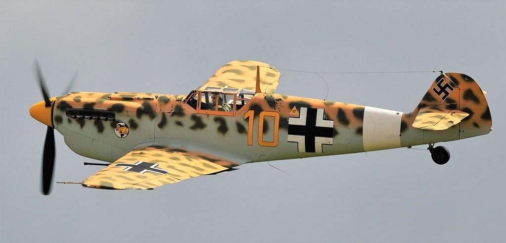 Hispano HA-1112 M4L Buchon Yellow 10 G-AWHK in Temporary colours