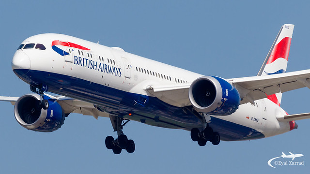 TLV - British Airways Boeing 787-9 G-ZBKD