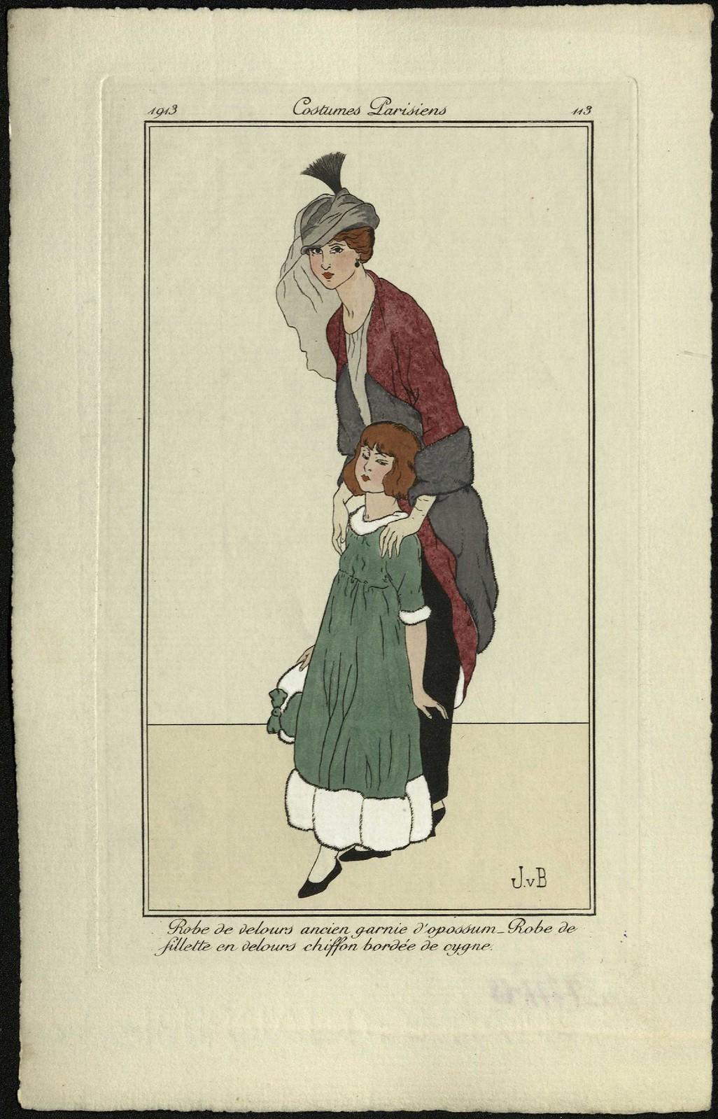 Старинное бархатное платье, отделанное опоссумом. Платье для девочки из шифонового бархата с отделкой лебяжим пухом