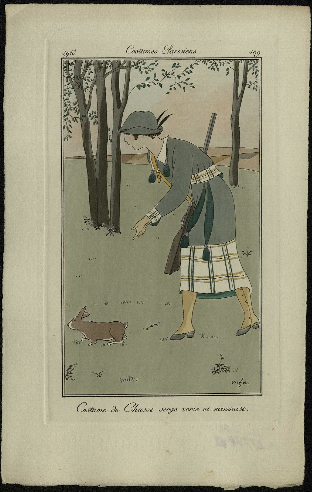 Охотничий костюм из шотландского сержа