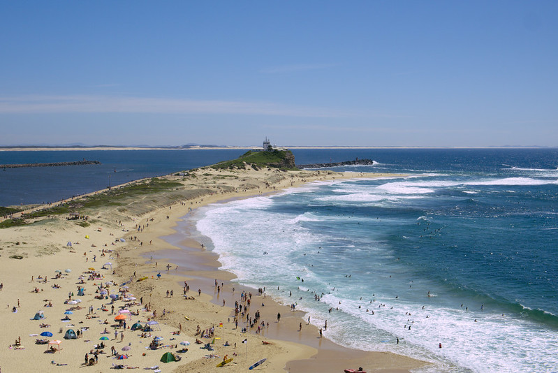 Nobbys Beach from Fort Scratchley