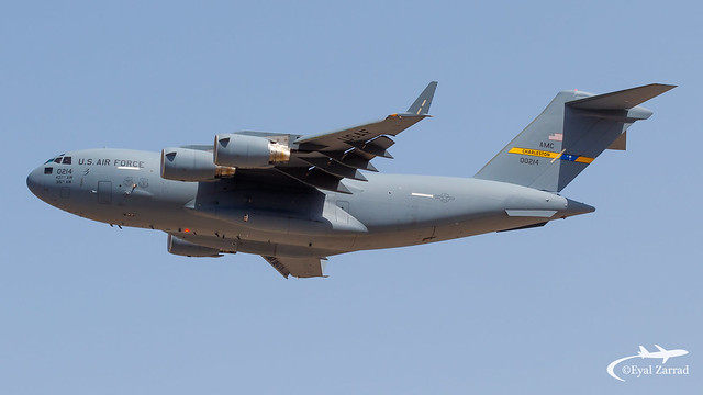 TLV - USAF Boeing Globemaster C-17 10-0214