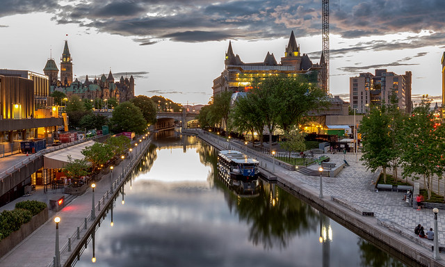 View  of the City of Ottawa (Ville d'Ottawa), Ontario, Canada