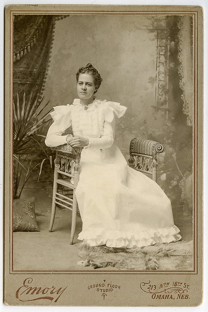 Young woman in Omaha, Nebraska, USA - ca 1890
