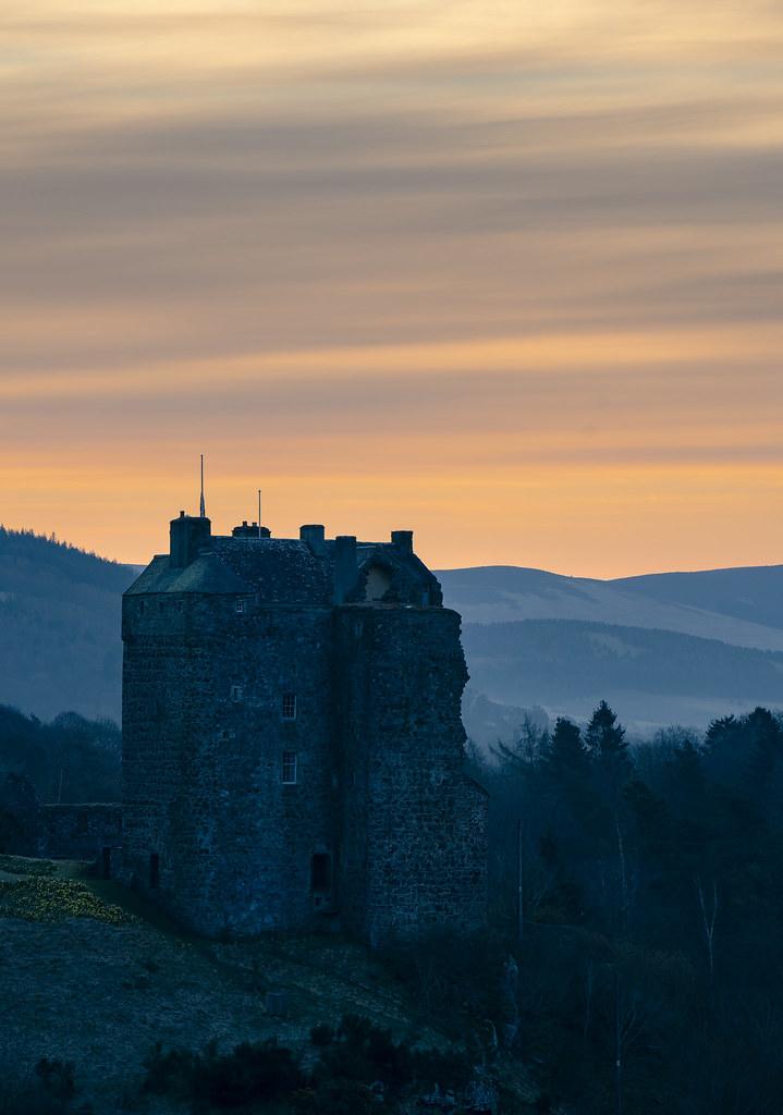 Moody Morning Light at Neidpath Castle. Explored #2