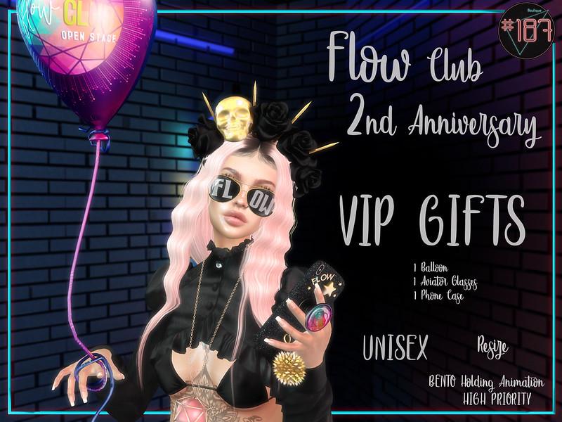 #187# FLOW Club 2nd Anniversary Affiche