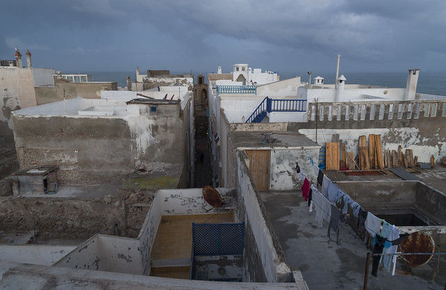 View over Medina of Essaouira, 19.03.2015.