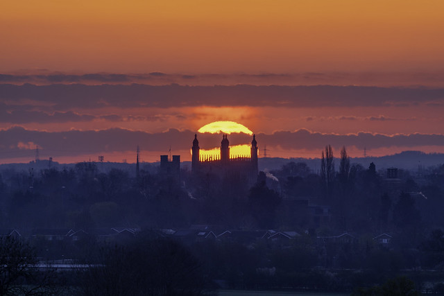Sunrise over Cambridge, 13th April 2021