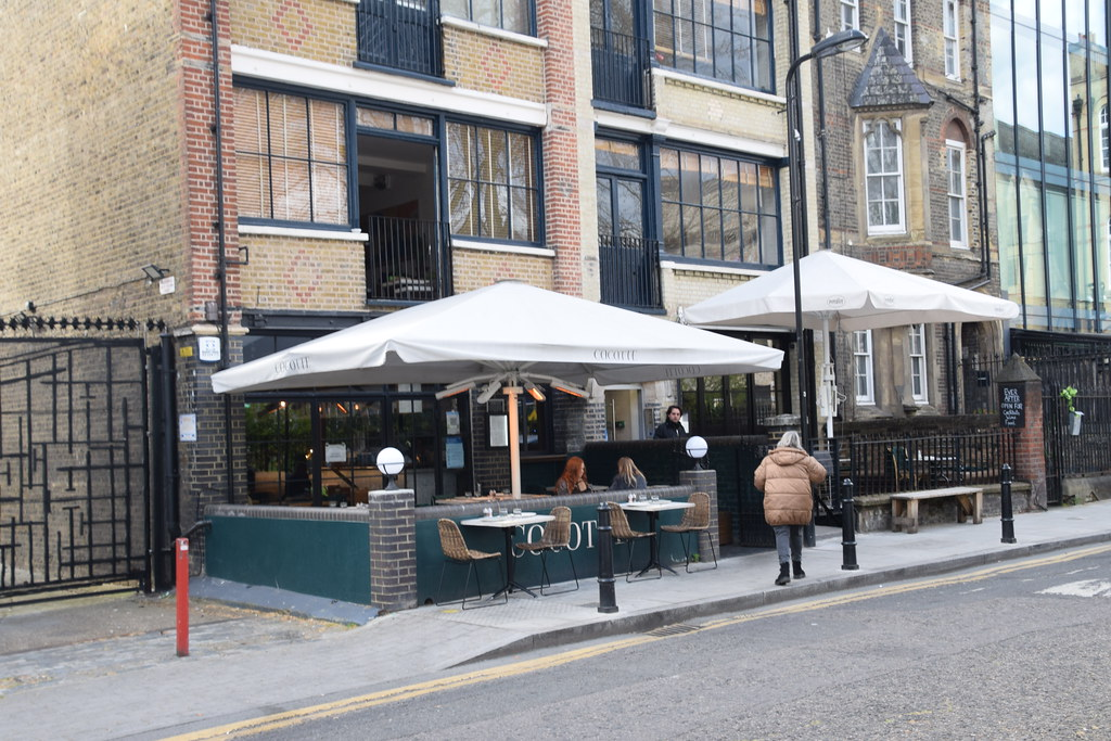 DSC_9423 Shoreditch London 8 Hoxton Square Cocotte al-fresco dining on our covered terrace now open COVID-19 Coronavirus Outdoor Drinking and Dining