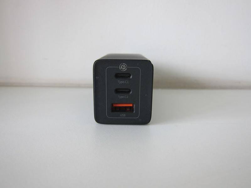 Baseus 65W GaN Dual USB-C Plus USB-A Charger - Front