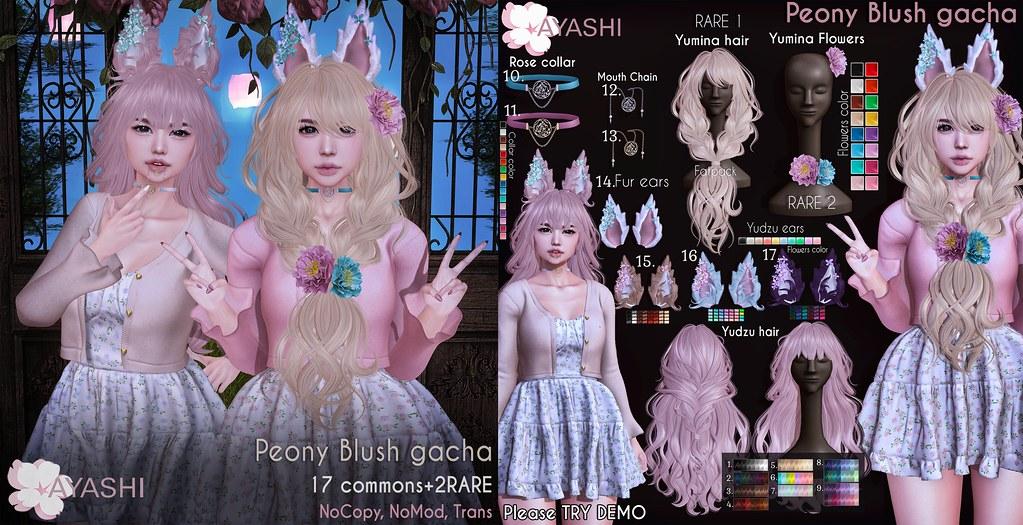 [^.^Ayashi^.^] Peony Blush gacha special for The Epiphany