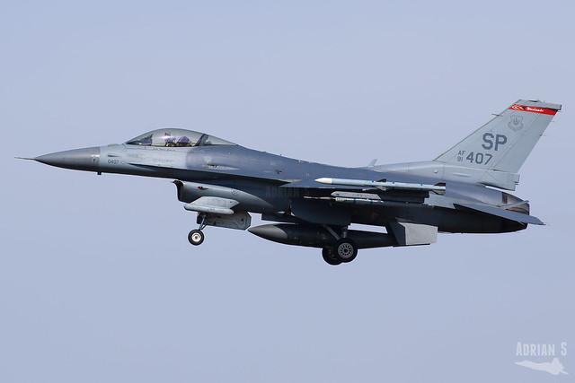 91-0407 F-16CM Fighting Falcon | ETAD | 09.04.2021