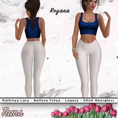 Neck Crop Top and Leggings - Royana