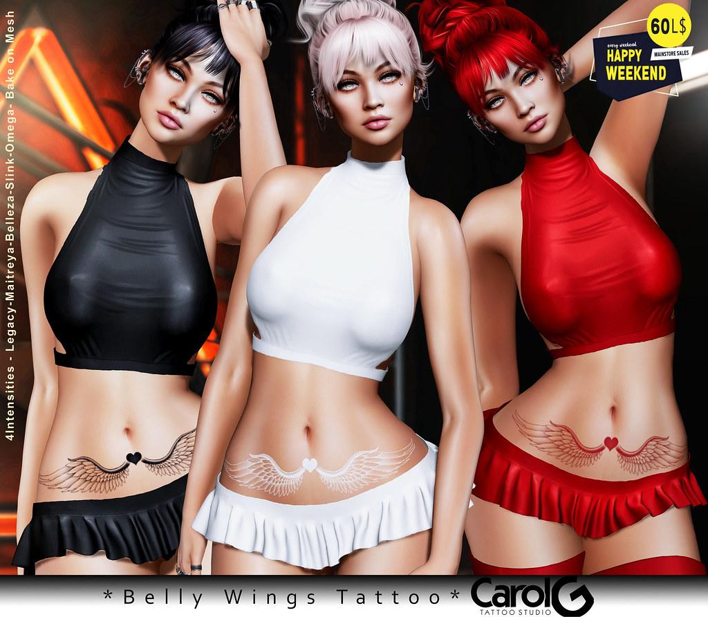 Belly Wings Tattoo [CAROL G]