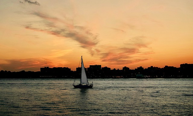 Sunset over Hudson (2 south) - Chelsea Piers, New York City