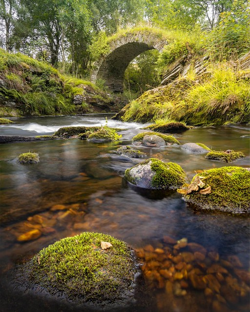 Packhorse bridge Less famous than the nearby one at Cartridge, this one is my favourite! #aesthetic #bestoftheday #beautifuldestinations #danlowphoto #explore #earthofficial #fantastic_earth #goodvibes #house_of_tones #instagood #instatraveling #insta_wor