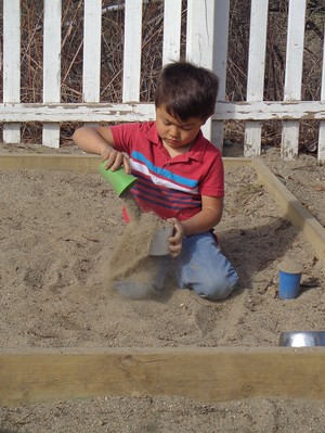pouring sand