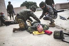 La Compañía de Sanidad del Grupo Logístico XI ha llevado a cabo prácticas sobre evacuación de heridos