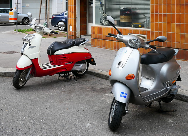 Two Scooters in Vienna