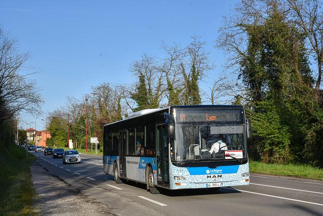 MAN Lion's City - Cars Philibert / Cars Région Auvergne-Rhône-Alpes (car.ain.fr) - 1007 (AL-395-LJ)