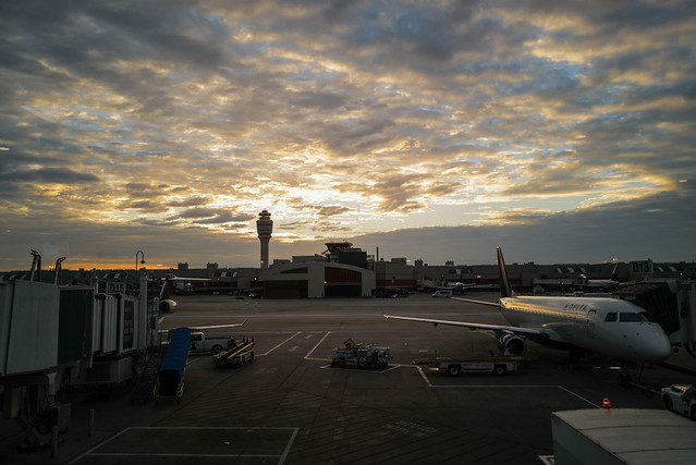 Early morning at the airport