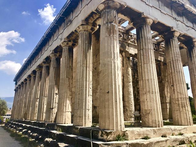 Le temple d'Héphaïstos et Athéna Ergané, Athènes, Grèce.