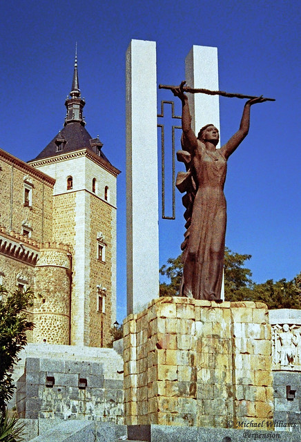 Monument to the Siege of the Alcázar during the Spanish Civil War