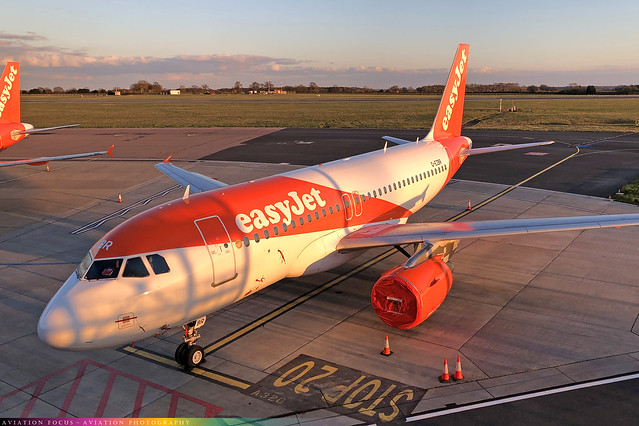 G-EZBR  -  Airbus A319-111  -  easyJet  -  LTN/EGGW 14-4-21
