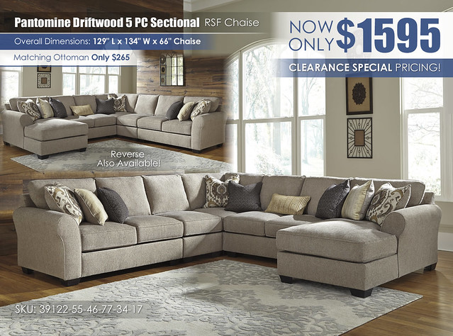 Pantomine Driftwood 5PC RSF Sectional_39122-55-46-77-34-17_2021