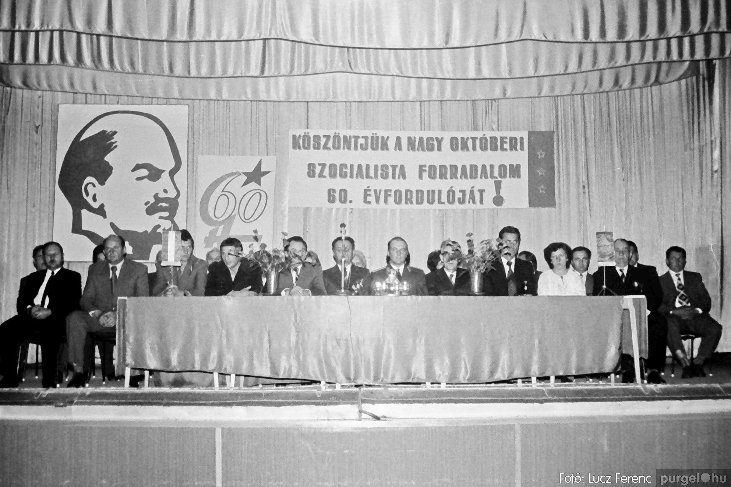 094. 1977.11.07. November 7-i ünnepség 014. - Fotó: Lucz Ferenc.jpg