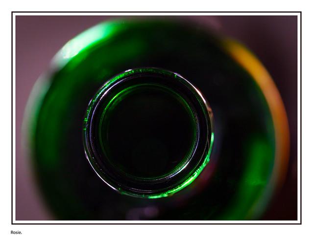 Green bottle top down