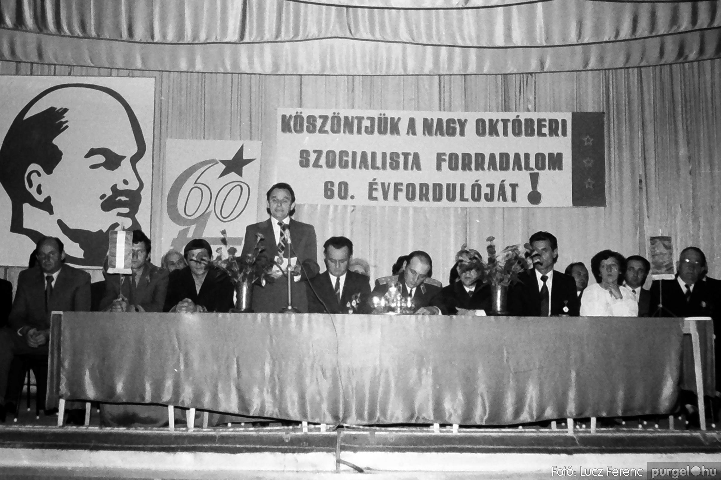 094. 1977.11.07. November 7-i ünnepség 016. - Fotó: Lucz Ferenc.jpg