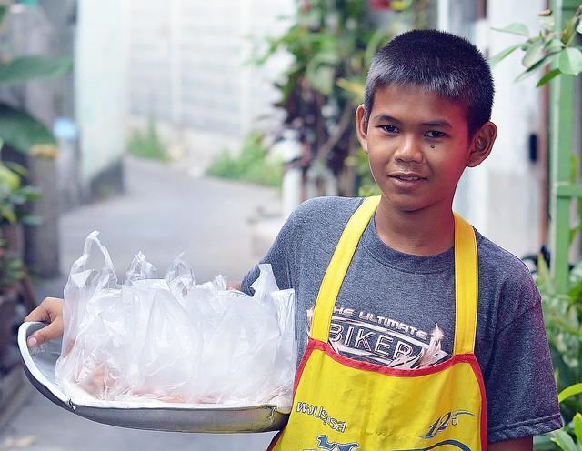 handsome mobile food vendor