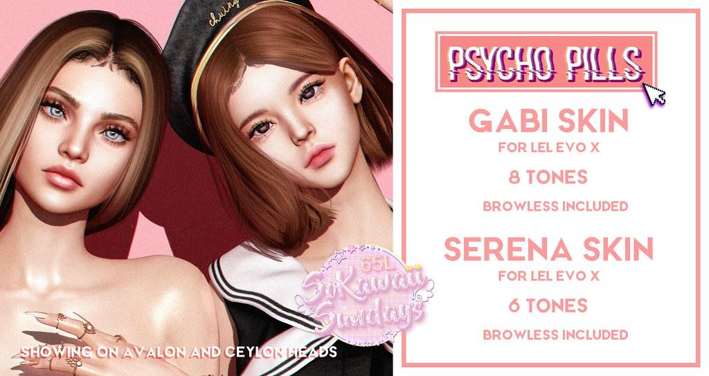 Gabi and Serena Skins at So Kawaii Sundays!
