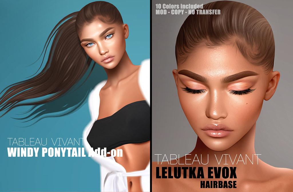 Tableau Vivant -Windy ponytail addon leLutka Evo X hb