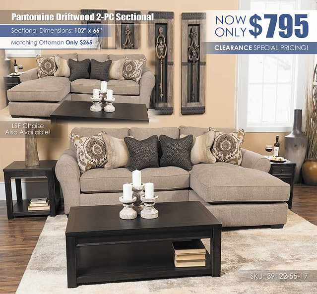 Pantomine Driftwood 2PC Sectional_39122-55-17_2021