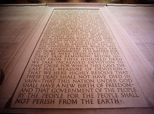 Gettysburg Address at the Lincoln Memorial