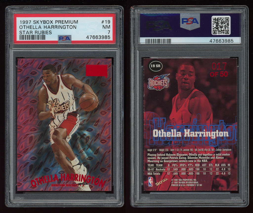 1997 Skybox Premium Star Rubies #19 Othella Harrington PSA 7