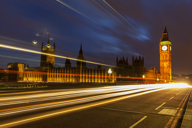 Big Ben & Houses of Parliament Light Trails [In Explore 19 April 2021]