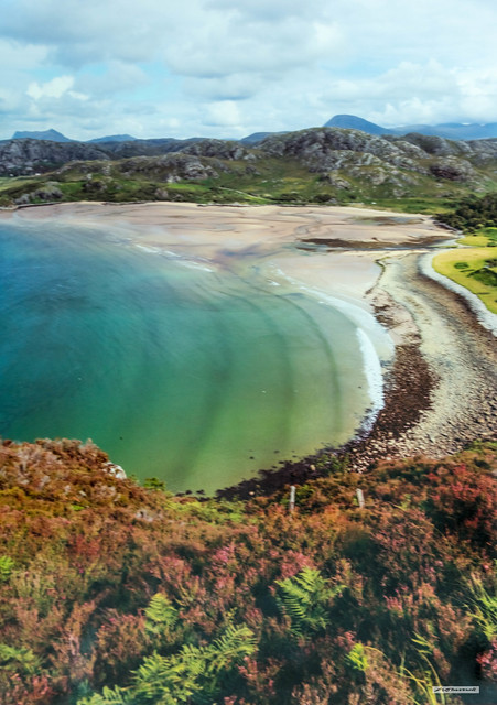 The splendid colours and beaches of Gruinard Bay, Wester Ross, Scotland.