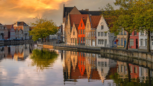 Bruges Canal Reflections, Belgium
