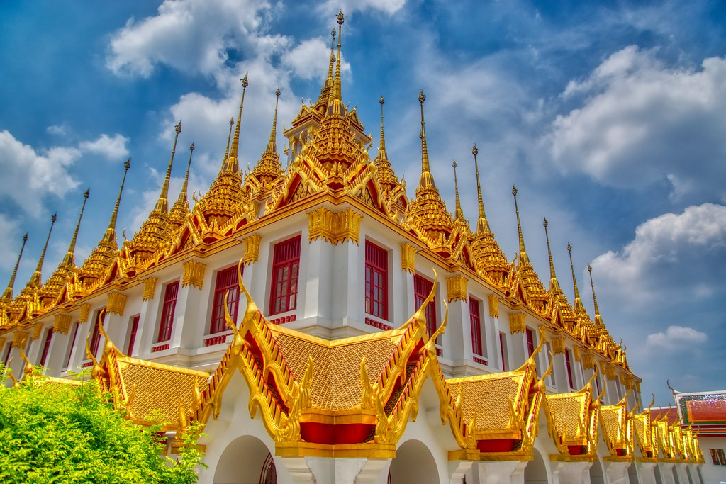 Loha Prasat at Wat Ratchanatdaram Worawihan on Rattanakosin island (Old Town) in Bangkok, Thailand