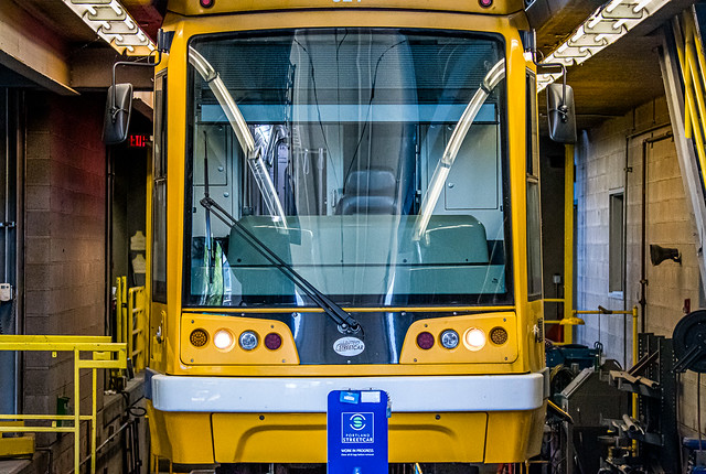 TriMet Max Lightrail Car Servicing