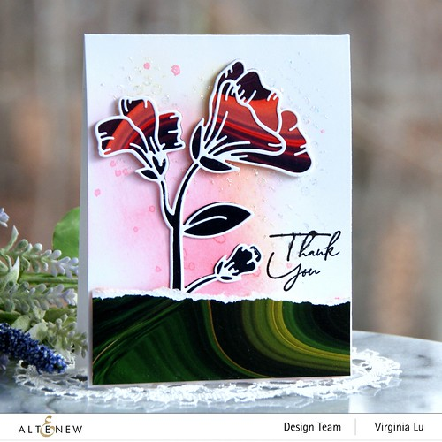 Altenew-Whimsical Garden Layering Die-Poured Acrylic 6x6 Paper Pad -Feeling dotty Stencil-Tall Foliage Stamp (Sentiment)