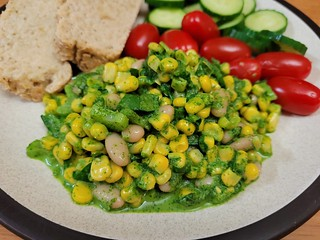 Corn Salad with Basil Pesto Aioli
