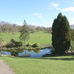 Ornate gardens at Avenham Park, Preston