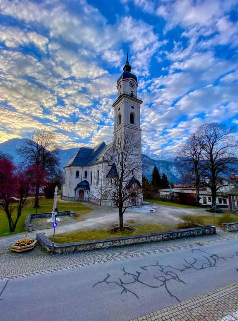 Holy Cross parish church in Kiefersfelden in Bavaria, Germany